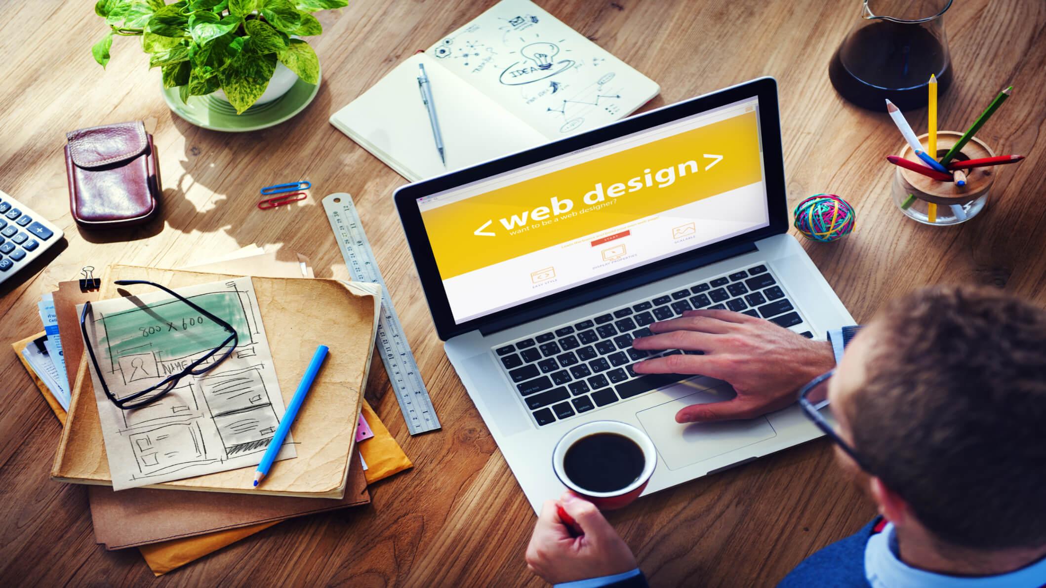 web design code display on screen